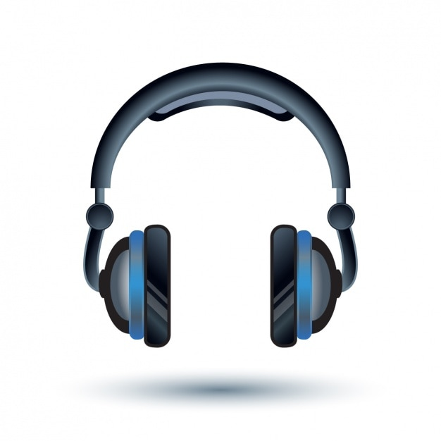 Headphones background design Vector | Free Download