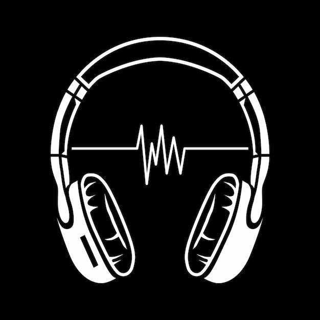 Headphones illustration Premium Vector