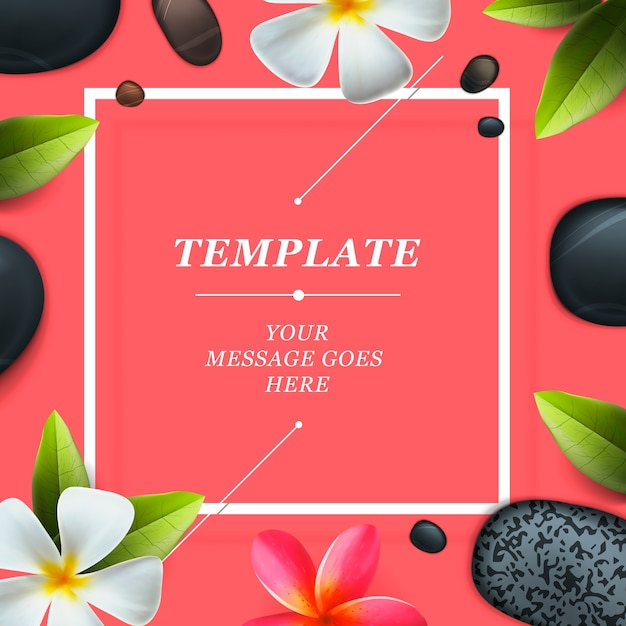 Health and beauty frame template, concept for spa salon Premium Vector