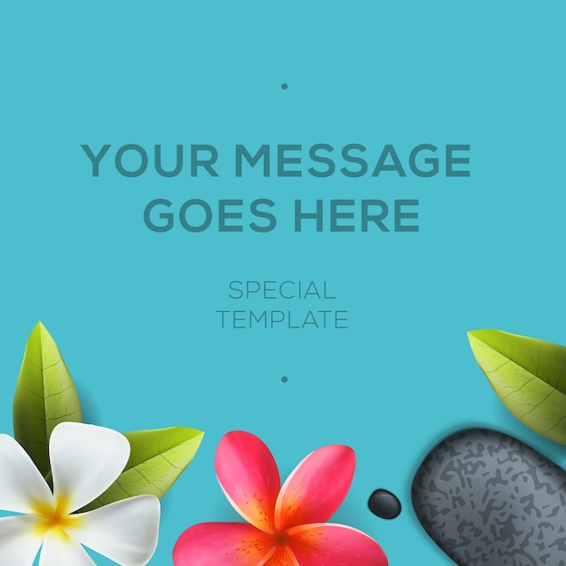 Health and beauty template, concept for spa salon Premium Vector