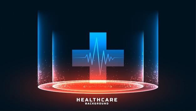 クロスシンボルとヘルスケアと医療の背景 無料ベクター