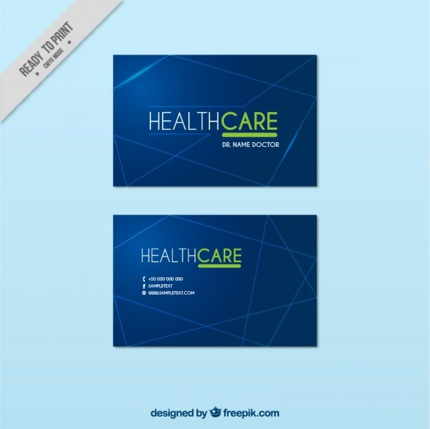 Health care business card vector free download health care business card free vector reheart Image collections