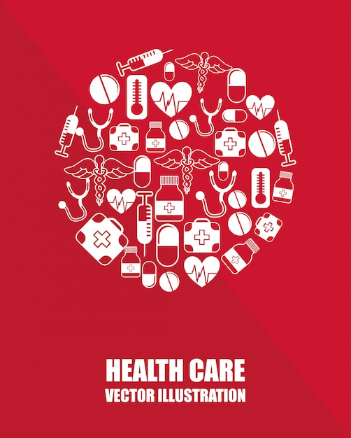Health care graphic design Free Vector