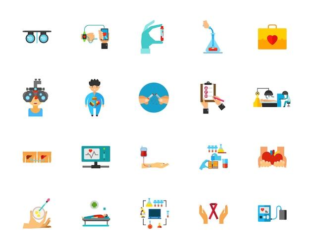 Health care icon set Free Vector