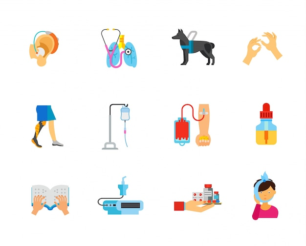 Health care icons collection Free Vector