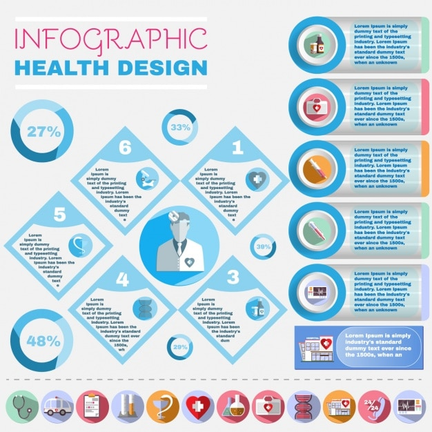 Health care infographic elements