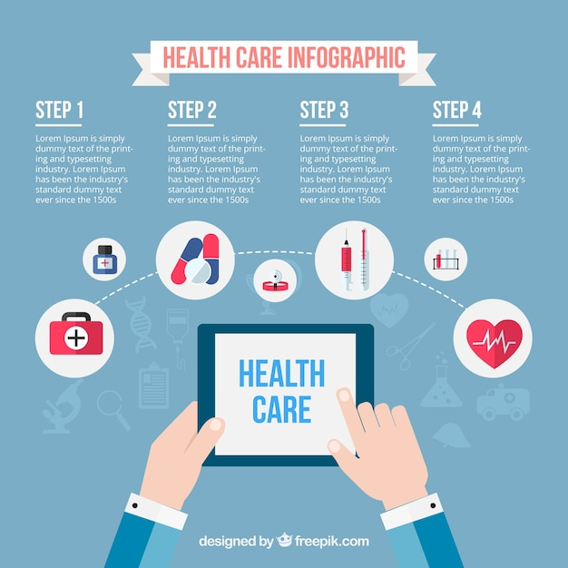 health insurance templates free download  Health care infographic template Vector | Free Download