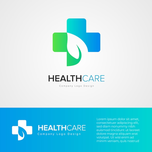 Health care logo design template Premium Vector