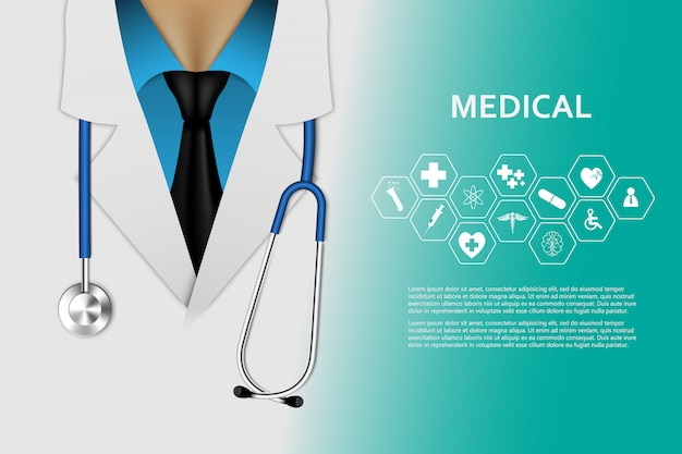 Health care  medical innovation concept background Premium Vector