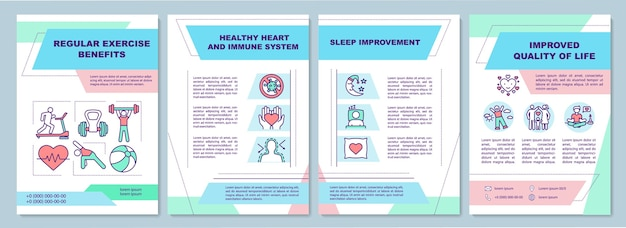 Health condition brochure template. balance training. immune system. Premium Vector