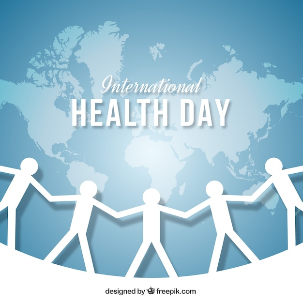 Health day background with cutouts