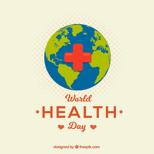 Health day background with world