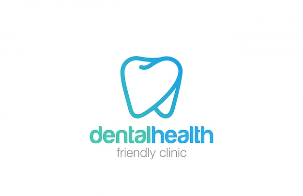 Health dent logo linear style icon. Free Vector