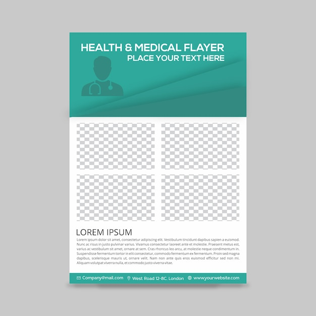 Health flyer Free Vector