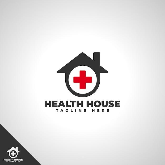 Health house logo template Premium Vector