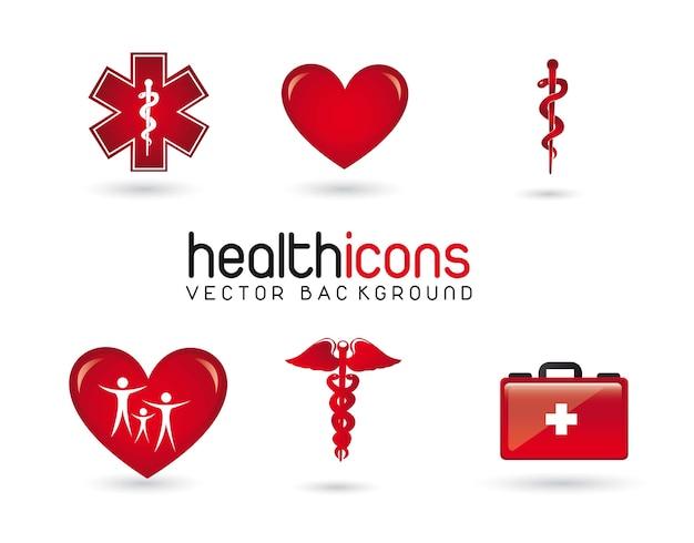 Health icons Premium Vector