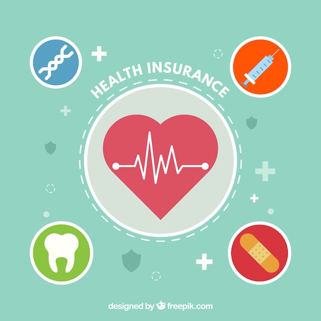 Health insurance design | Free Vector