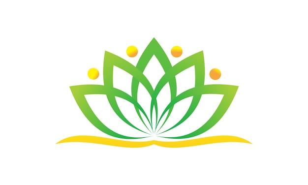 Health Life Spa and yoga Premium Vector