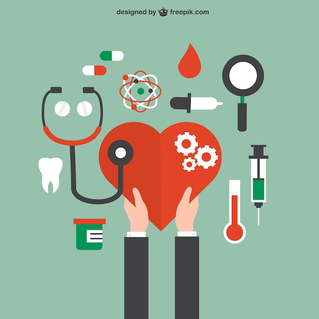 Health and medical care concept Free Vector