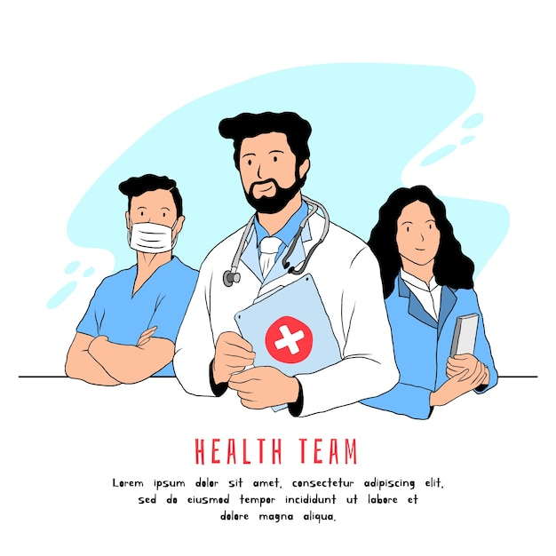 Health professional team Free Vector
