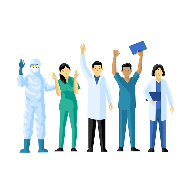 Health professional team Free Vector