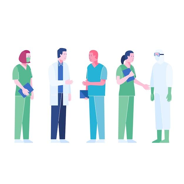 Team di professionisti della salute Vettore gratuito