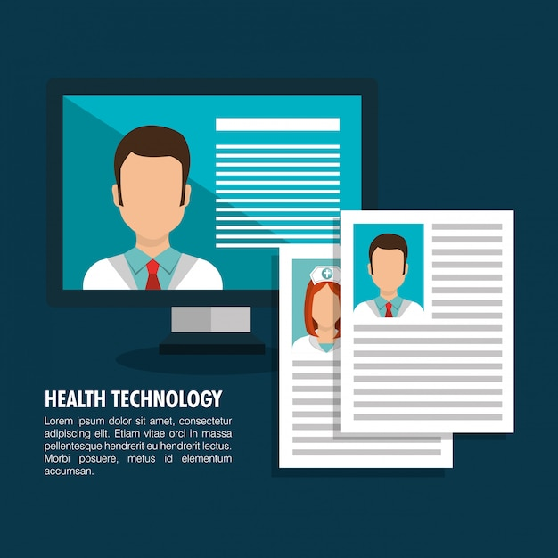 Health technology service Free Vector