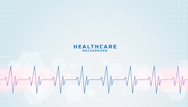 ハートビートラインとヘルスケアおよび医療の背景 無料ベクター