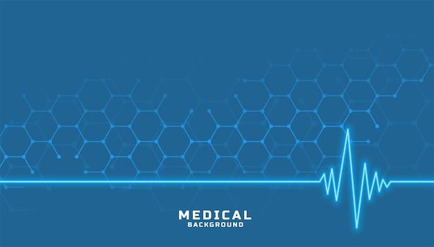 カーディオグラフラインによるヘルスケアと医療 無料ベクター