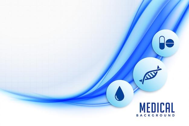 Sfondo sanitario con icone mediche e simboli di design Vettore gratuito
