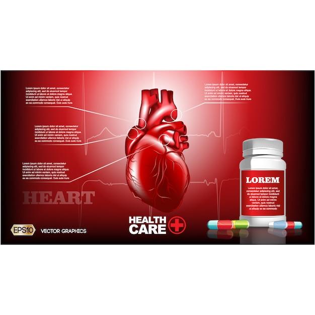 Healthcare brochure template Free Vector