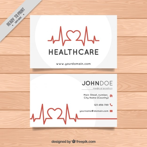 Healthcare business card Vector | Free Download