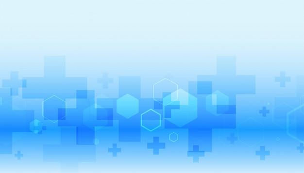 Assistenza sanitaria e medica in colore blu Vettore gratuito