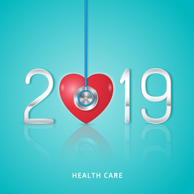 Healthcare and medical new year 2019 Premium Vector