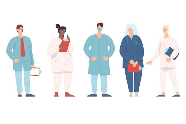 Team di assistenza sanitaria e medicina Vettore gratuito