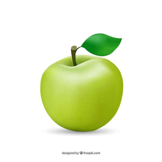 Healthy apple Free Vector