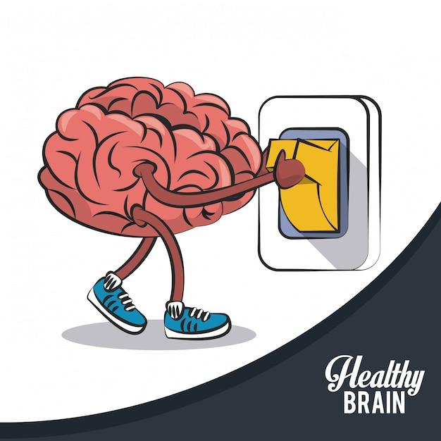 Здоровый переключатель переключения мозга Premium векторы