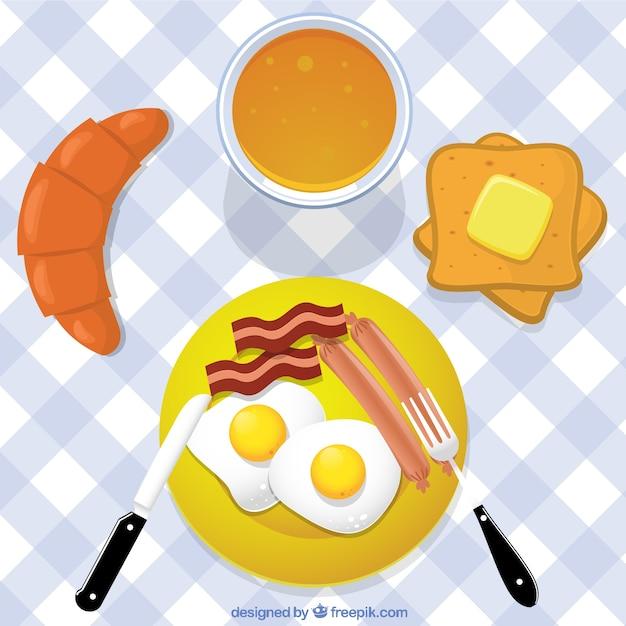 Healthy breakfast Premium Vector