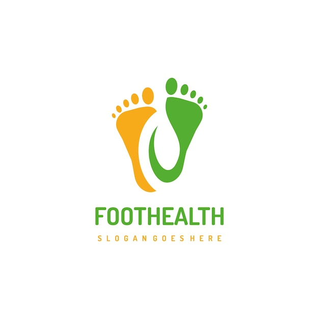 Healthy feet logo template Premium Vector