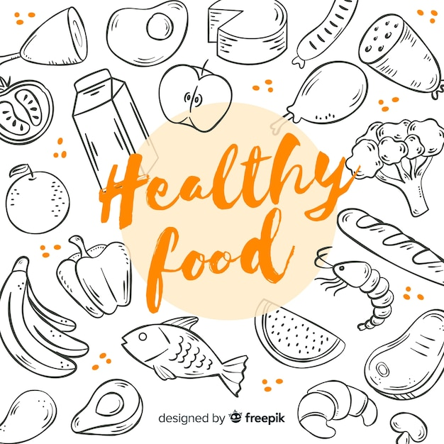 Healthy food background Free Vector