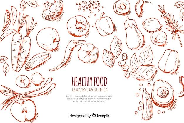 健康食品の背景 Premiumベクター
