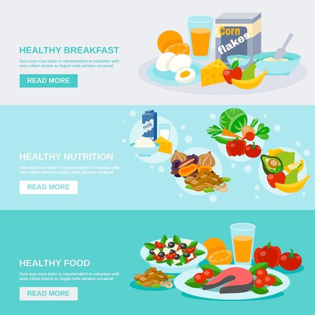 Healthy food banner Free Vector