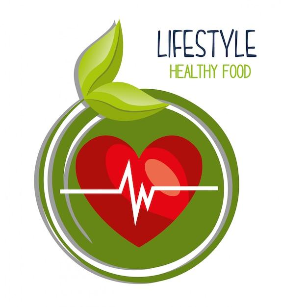 Healthy food design Premium Vector