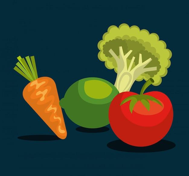 Healthy food  design Free Vector