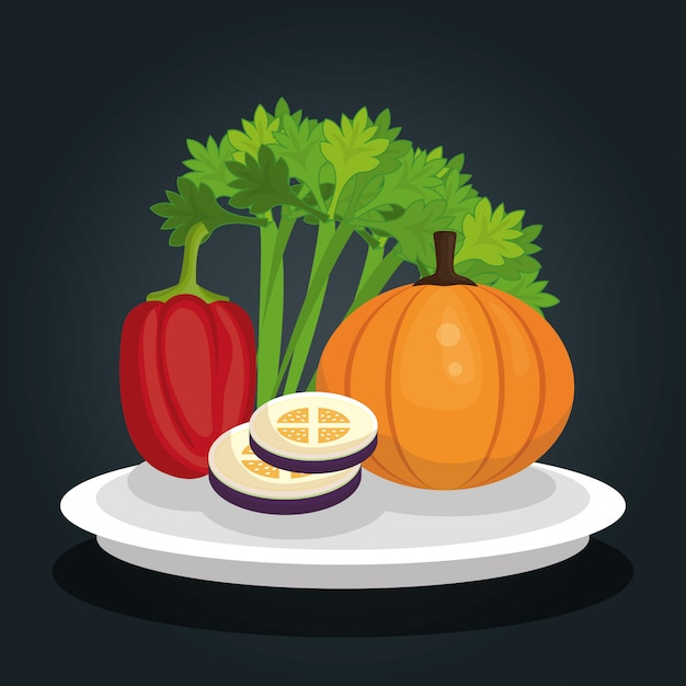 Healthy food  design Free Vector