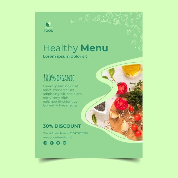 Шаблон флаера здоровой пищи Бесплатные векторы