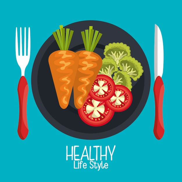 Healthy food illustration Free Vector
