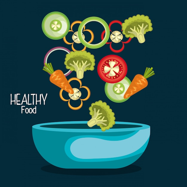 Healthy food illustration Free Vector