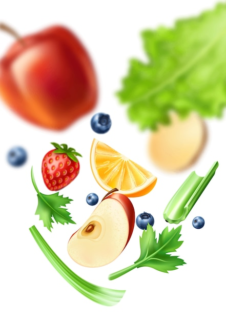 Healthy food pattern Premium Vector