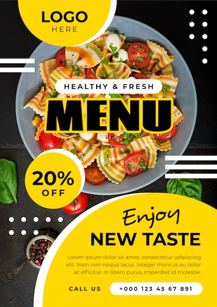 Healthy food poster template concept Free Vector